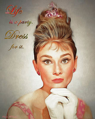 Digital Art - Audrey Hepburn 4 by Pennie McCracken