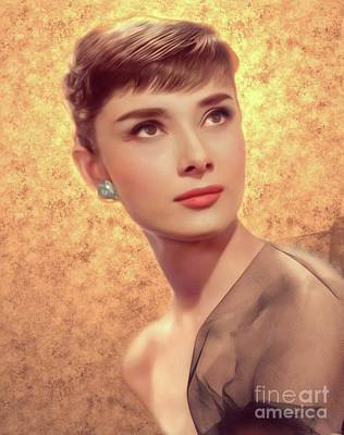 Actors Royalty-Free and Rights-Managed Images - Audrey Hepburn, Actress by Mary Bassett