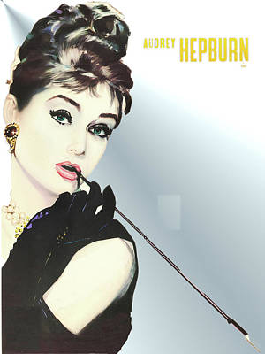 Drawing - Audrey Hepburn by Allen Beilschmidt