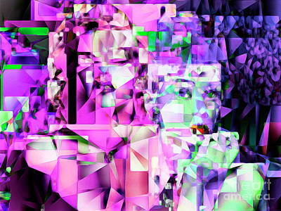 Photograph - Audrey Hepburn And Marilyn Monroe Tiffany And The Blonde In Abstract Cubism 20170401 by Wingsdomain Art and Photography