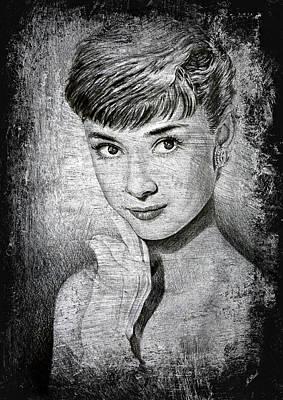 Audrey Hepburn Drawing - Audrey Hepburn by Andrew Read