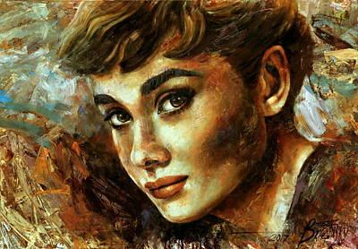 Wall Art - Painting -  Audrey Hepburn by Arthur Braginsky