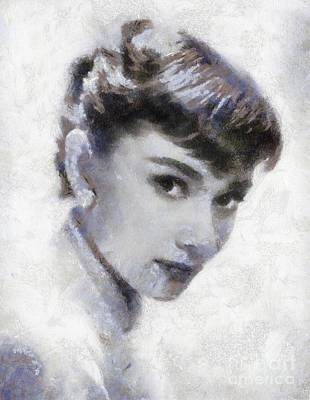 Actors Royalty-Free and Rights-Managed Images - Audrey Hepburn by Sarah Kirk by Sarah Kirk