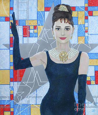 Audrey Hepburn, Old Hollywood, Celebrity Portrait Original