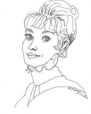 Drawing - Audrey Hepburn by Denise Fulmer