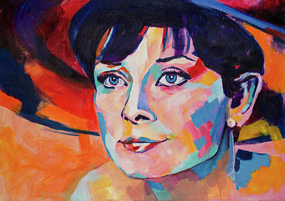Painting - Audrey Hepburn by Dima Mogilevsky