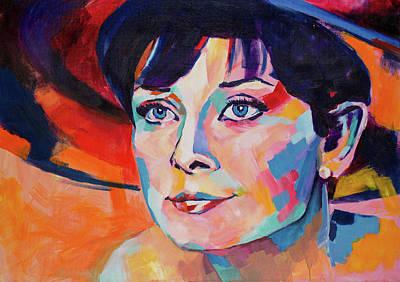 Celebrity Painting - Audrey Hepburn by Dima Mogilevsky