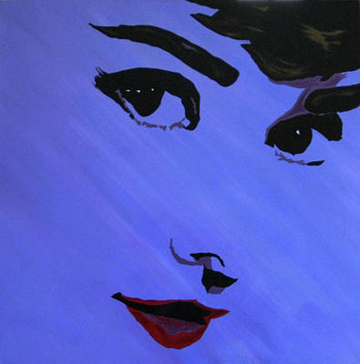 Painting - Audrey Hepburn-eyes For You by Bill Manson