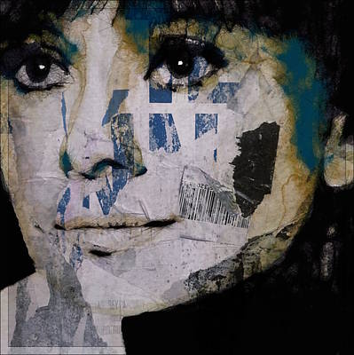 Mixed Media Mixed Media - Audrey Hepburn  by Paul Lovering