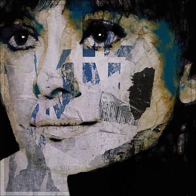 Mixed Media Mixed Media - Audrey Hepburn  by Paul Lovering