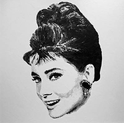 Mexican Decoration Painting - Audrey Hepburn by Havi