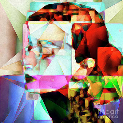 Sex Symbol Photograph - Audrey Hepburn In Abstract Cubism 20170329 Square by Wingsdomain Art and Photography