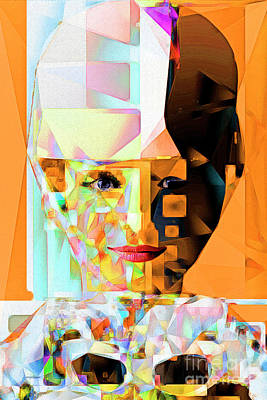 Photograph - Audrey Hepburn In Abstract Cubism 20170406 by Wingsdomain Art and Photography