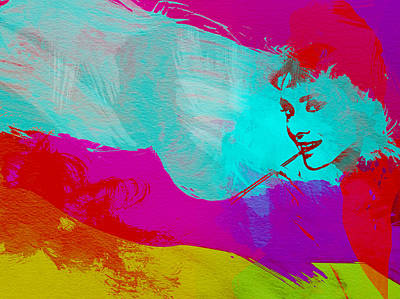 Tiffany Painting - Audrey Hepburn by Naxart Studio
