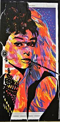 Mixed Media - Audrey Hepburn by Kruti Shah