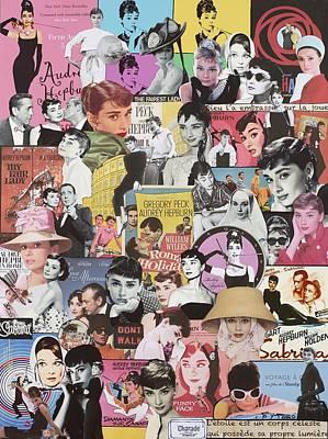 Romaine Mixed Media - Audrey Hepburn by Marijo Communier
