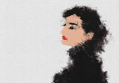 Actors Painting - Audrey Hepburn by Miranda Sether