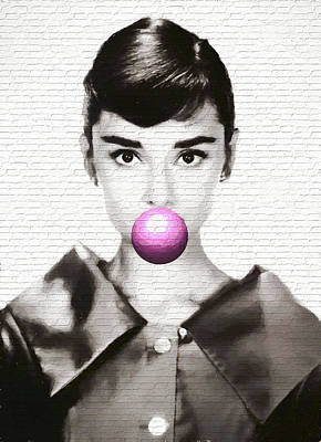 Audrey Hepburn Mixed Media - Audrey Hepburn Modern Pop Art by Dan Sproul