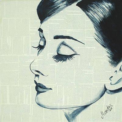 Audrey Hepburn Painting - Audrey Hepburn by Monikas Art