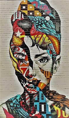 Photograph - Audrey Hepburn Mural 1 by Rob Hans