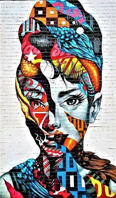Photograph - Audrey Hepburn Mural by Rob Hans