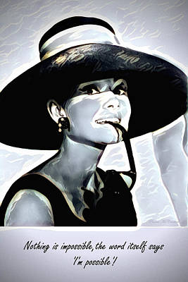 Digital Art - Audrey Hepburn by Pennie McCracken