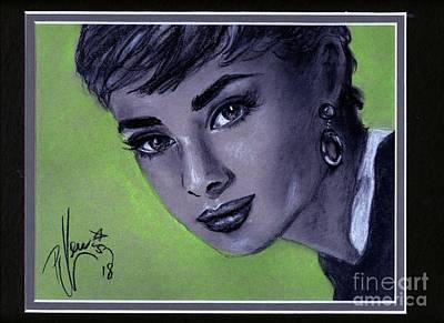 Drawing - Audrey Hepburn by PJ Lewis