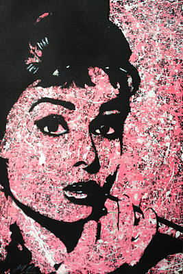 Pop Art Painting - Audrey Hepburn Pop Art Painting by Anthony Melice