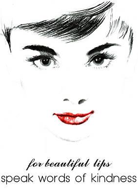 Audrey Hepburn Painting - Audrey Hepburn Quotes 3 by Diana Van