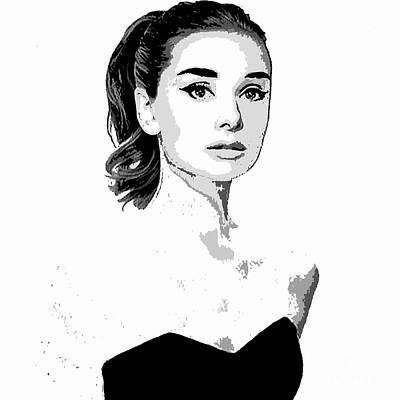 Painting - Audrey Hepburn by Saundra Myles