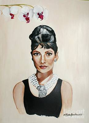 Painting - Audrey Hepburn by Shelley Overton