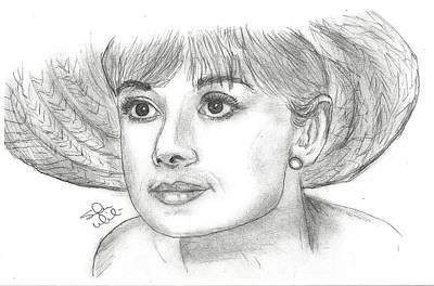 Steven White Drawing - Audrey Hepburn Smile by Steven White
