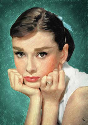 Painting - Audrey Hepburn by Taylan Apukovska