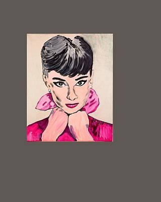 Painting - Audrey Hepburn by Valerie Ornstein