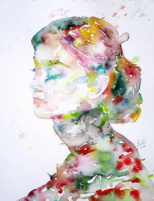 Audrey Hepburn  Watercolor Portrait.13 Original