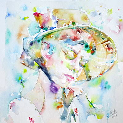 Painting - Audrey Hepburn  Watercolor Portrait.14 by Fabrizio Cassetta