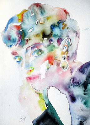 Painting - Audrey Hepburn - Watercolor Portrait.15 by Fabrizio Cassetta