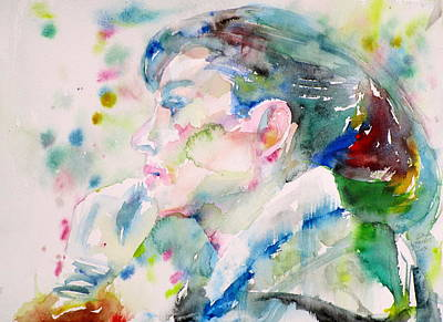 Painting - Audrey Hepburn - Watercolor Portrait.20 by Fabrizio Cassetta