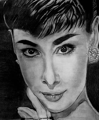 Drawing - Audrey Hepburn by Windy Savarese