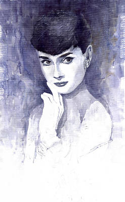 Actors Wall Art - Painting - Audrey Hepburn  by Yuriy Shevchuk