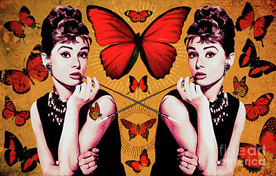 Actors Royalty-Free and Rights-Managed Images - Audrey Hepburn_POPART05 by Bobbi Freelance
