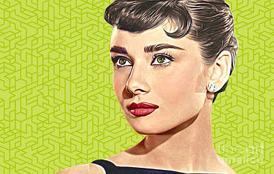 Actors Royalty-Free and Rights-Managed Images - Audrey Hepburn_POPART06-3 by Bobbi Freelance
