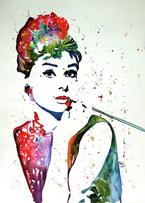 Painting - Audrey by Kovacs Anna Brigitta