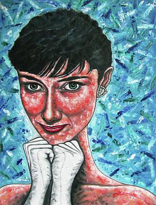 Audrey Larger Than Life Original by Preston M Smith PMS