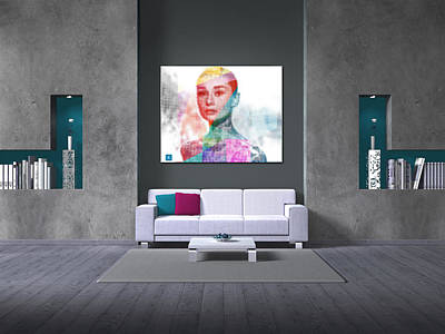 Private Room Digital Art - Audrey On A Wall 2 by Begonia Lafuente