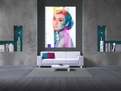 Private Room Digital Art - Audrey On A Wall 3 by Begonia Lafuente
