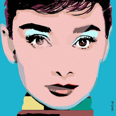 Old Hollywood Digital Art - Audrey Pop by Janine Hoffman