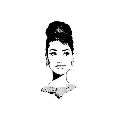 Audrey Hepburn Digital Art - Audrey by Rene Flores