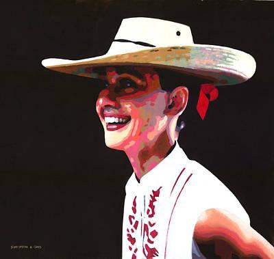 Audrey Hepburn Painting - Audrey's Hat by Douglas Simonson