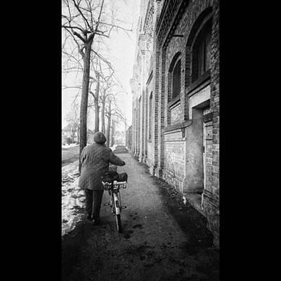 Bicycle Photograph - Auf Dem Heimweg  #weg #backsteinmauer by Mandy Tabatt
